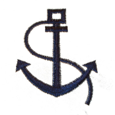 Anchor & Rope Embroidery Logo