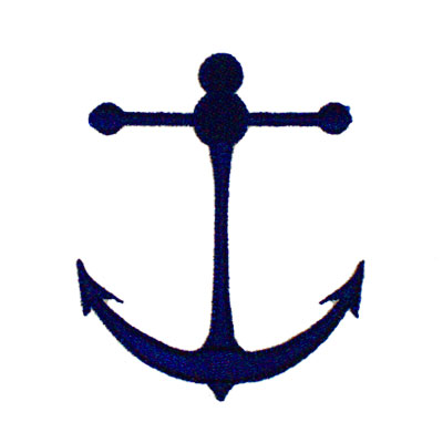 Anchor for Custom Bag Embroidery