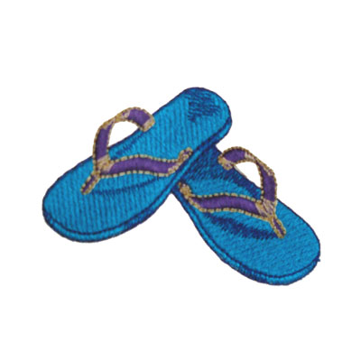 Flip Flop Color Blue for Custom Beach Bags