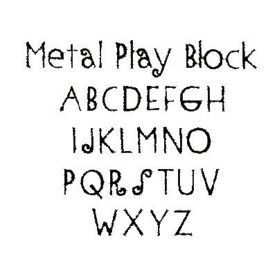 Metal Play Font - Monnogramming